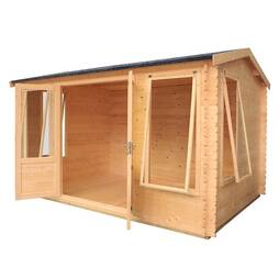 Waltons 4m x 3m Home Office Director Log Cabin