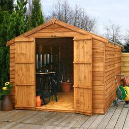 12 x 8 Waltons Windowless Overlap Apex Wooden Shed