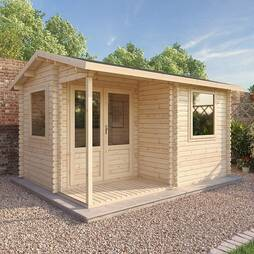 4m x 3m Executive 44mm Single Glazed Log Cabin