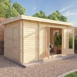 Waltons 4m x 2.5m Zen 2 Log Cabin