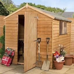 8 x 6 Value Overlap Apex Shed with Windows