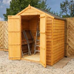 6 x 4 Waltons Double Door Overlap Apex Garden Storage Shed