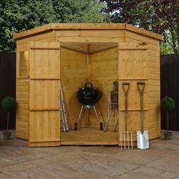 7 x 7 Waltons Tongue and Groove Wooden Corner Shed