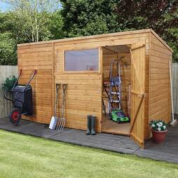 12 x 8 Waltons Tongue and Groove Pent Wooden Shed