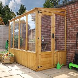 8 x 4 Waltons Leanto Pent Wooden Greenhouse