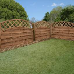 Convex Horizontal Weave with Integrated Trellis 1800mm x 1200mm  Pressure Treated