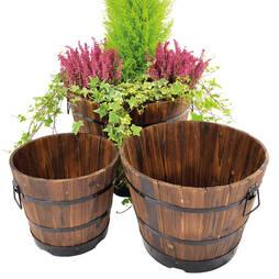 Wooden Barrel Planters