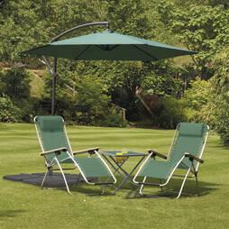 Garden Gear Cantilever Parasol  Green