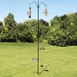Bird Feeding Station With 3 Birdfeeders