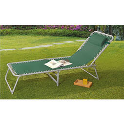 Garden Lounger Bed  Black