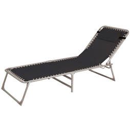 Garden Lounger Bed  Black