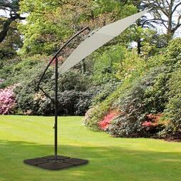 Cantilever Garden Parasol Pale Grey