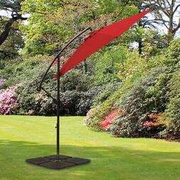 Cantilever Garden Parasol Red