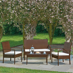 Antigua 4Pc Rattan Set  Brown