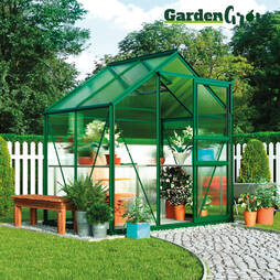 Garden Grow Traditional Greenhouse 6.2 x 4.3 x 6.6ft'Green