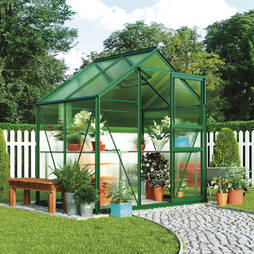 Greenhouse 6.2 x 4.3 x 6.6ft 'Green