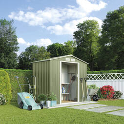 APEX METAL SHED7x4.2FT  DK.GREEN