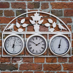 Garden Wall Clock Cream
