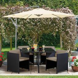 5 Piece Sorrento Cubic Rattan Set Black