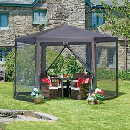 Hexagon Gazebo With Net