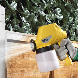 Work Expert Wall And Fence Paint Sprayer With 2 Resevoirs