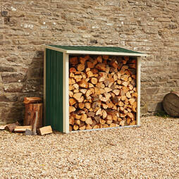 Metal Log Store 6X3X5.1Ft Dark Green