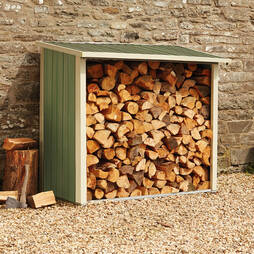 Metal Log Store 6X3X5.1Ft Light Green