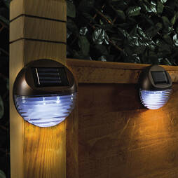 ROUND SOLAR FENCE LIGHT  2 PACK