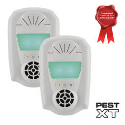Pest XT 4in1 Indoor Ultrasonic Repeller  Twin Pack