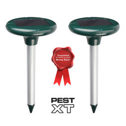 Pest XT Solar Powered Mole Repeller  Twin Pack