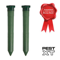 Pest XT Battery Powered Mole Repeller  Twin Pack