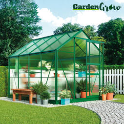 Greenhouse 6.2X6.2X6.6ft Silver
