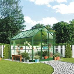 Greenhouse 6.2X8.3X6.6ft Silver