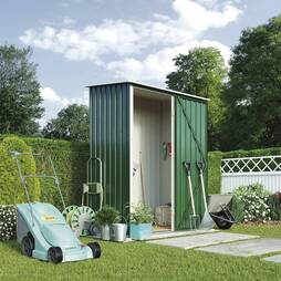 Waltons Compact Pent Metal Shed 4.7?x3.0ft Dark Green