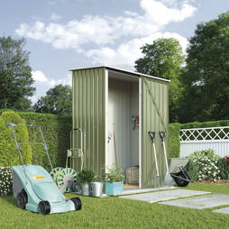 Waltons Compact Pent Metal Shed 4.7X2.9ft Foundation Kit
