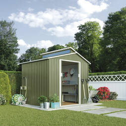 Skylight Metal Shed 7.2X4.2Light Green