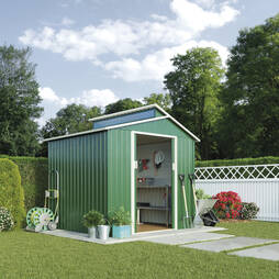 Skylight Metal Shed7.2X6.3 Dark Green