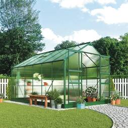 Greenhouse 8.1X10.1X7.4ft Silver
