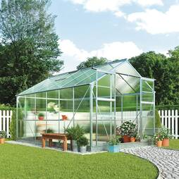 Greenhouse 8.1X12.1X7.4ft Silver