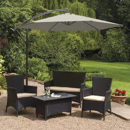 Garden Gear Cantilever Parasol  Grey