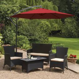Garden Gear Cantilever Parasol  Red