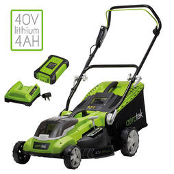 Aerotek Series X2 40V Cordless Lawnmower and Grass Trimmer