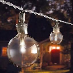 Solar Bubble String Lights