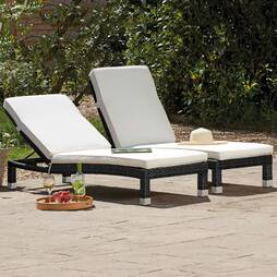 Palermo Rattan Lounger  Black Twin Pack