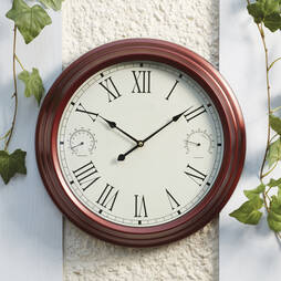 Traditional Garden Wall Clock Bronze