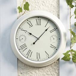 Traditional Garden Wall Clock Cream