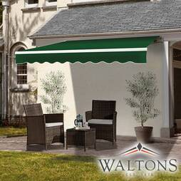 Easy Fit Garden Awning 395cm x 300cm Green And White