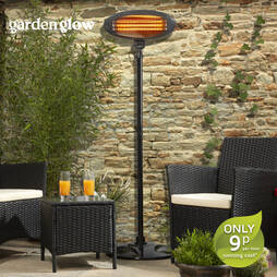 2000W Floor Standing Patio Heater  Graphite