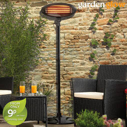 2000W Floor Standing Patio Heater Black