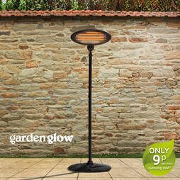 2000W FLOOR STANDING PATIO HEATERBLACK